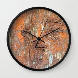 Red Reclaimed Barn Wood Wall Clock