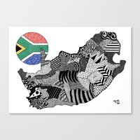 south africa Canvas Prints featuring South Africa by Rebecca Bear