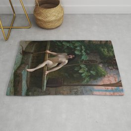 Truth Coming Out of Her Well Painting by Jean-Léon Gérôme Rug