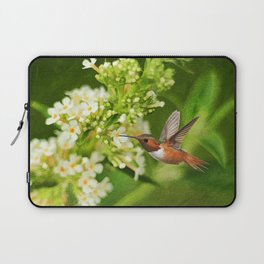 The Hummer and the Butterfly Bush Laptop Sleeve