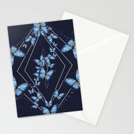 Insecta Pattern - Blue Morpho Stationery Cards