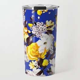 PHOTO Floral - D&G inspired - Yellow Travel Mug