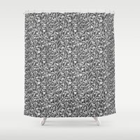 art nouveau Shower Curtains featuring Art Nouveau by pskrd