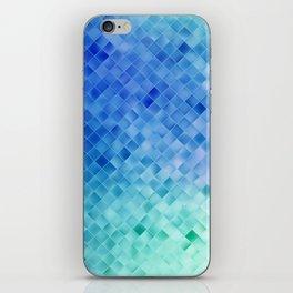 Blue Mosaic Pattern iPhone Skin
