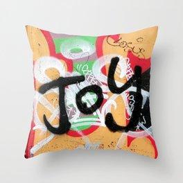 Joy & bike Throw Pillow