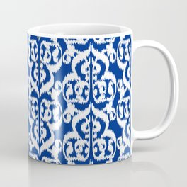 Ikat Moorish Damask, Cobalt Blue and White Coffee Mug