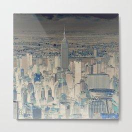 Inverted Manhattan Metal Print
