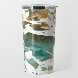 Abstract Acrylic Painting  Broken Glass THE MOUNTAIN --Modern art Travel Mug