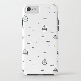 boats subtle pattern iPhone Case
