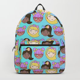 Fashion Girls Dolls Faces Backpack