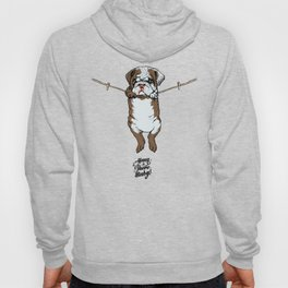 Hang in There Baby English Bulldog Hoody