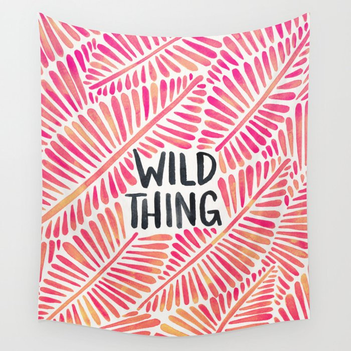 Wild Thing – Pink Ombré & Black Palette Wall Tapestry