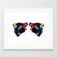 bears Framed Art Prints featuring bears  by Retro Made