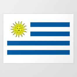 Flag of Uruguay Art Print