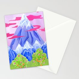 Lonely mountain Stationery Cards