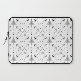 Deathly Hallows (White) Laptop Sleeve