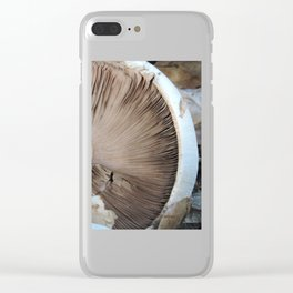 TEXTURES -- Mushroom Uprooted Clear iPhone Case
