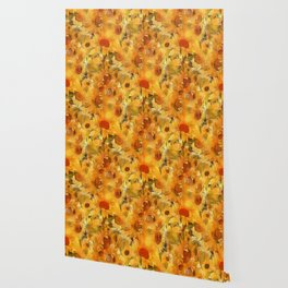 Sunshine Floral Abstract Wallpaper