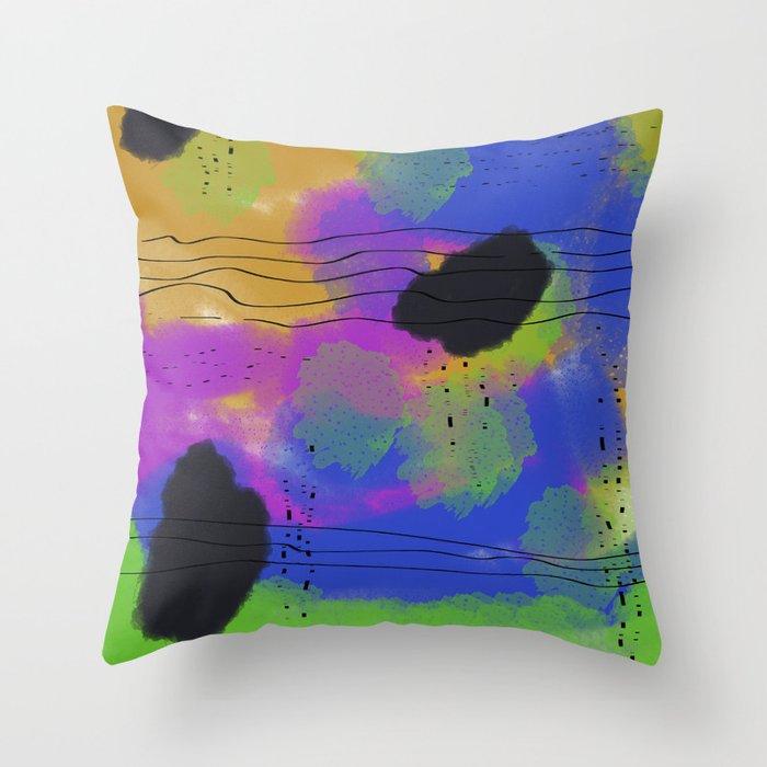 Abstact rainy Sky Throw Pillow