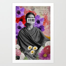 Public Figures Collection -- Frida by Elo Art Print