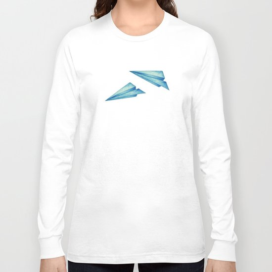 High Flyer | Origami | Simplified Long Sleeve T-shirt