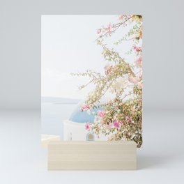 Pretty Oia Santorini Mini Art Print