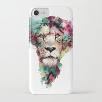king iPhone & iPod Cases featuring THE KING by RIZA PEKER