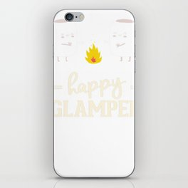 funny camping shirts happy campler iPhone Skin