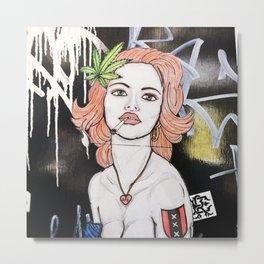 Amsterdam Girl Metal Print