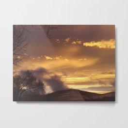 Mystical Sunset Metal Print
