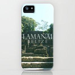 LAMANAI: Mask Temple iPhone Case
