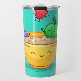 Fruit and oatmeal (Best friends. Character set.) Travel Mug