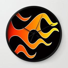 Hot Rod Flames Wall Clock