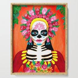Sugar Skull Girl - La Calavera Catrina Serving Tray