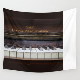 Piano keys Old antique vintage music instrument Wall Tapestry