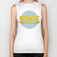 stay gold Biker Tanks featuring Stay Gold by abominable