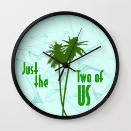 Just The Two Of Us Couples Trees Wall Clock