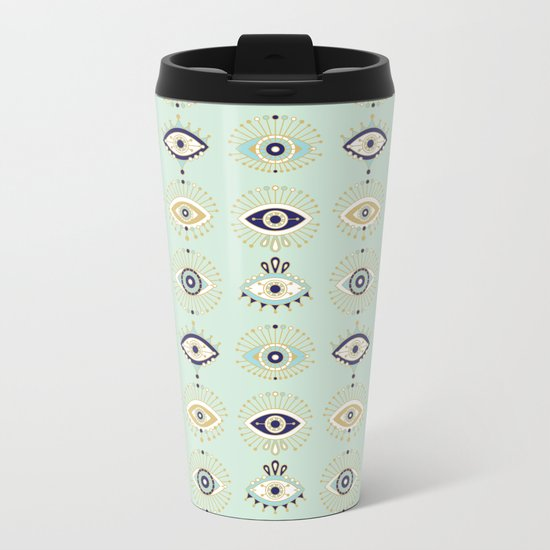 Evil Eye Collection Metal Travel Mug