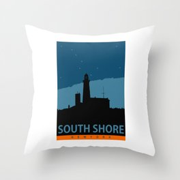 South Shore - Long Island. Throw Pillow