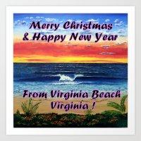 Merry Christmas from Virginia Beach Va Art Print