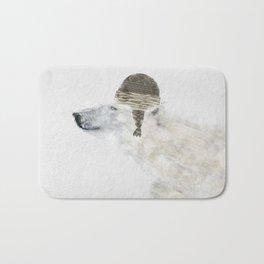 hello there polar bear Bath Mat