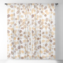 Paint Specks - Coffee Stain Variant Sheer Curtain