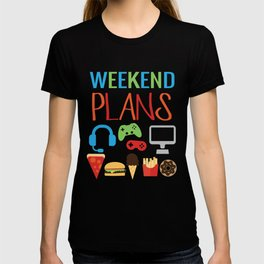 Video Game Party Snack Pattern T-shirt