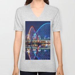 Magnificent Expo Bridge At Gap River Daejeon South Korea Asia Ultra HD Unisex V-Neck