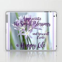 Small Blessings | Happy Life | Flowers | Text | Nadia Bonello Laptop & iPad Skin