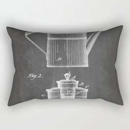 Coffee Patent - Coffee Shop Art - Black Chalkboard Rectangular Pillow