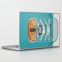 vans Laptop & iPad Skins featuring Cute blue teal Vans all star baby shoes iPhone 4 4s 5 5s 5c, ipod, ipad, pillow case and tshirt by Three Second