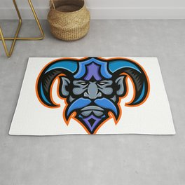 Hades Greek God Head Mascot Rug