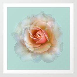 bed of roses: eau de nil ghost Art Print