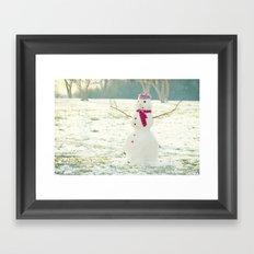 But Snowmen Can't Talk Framed Art Print